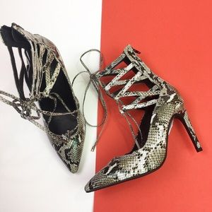 NEW Jeffrey Campbell for FP Hierro Snake Heels
